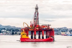 Oil platform on sea is offshore structure with facilities to drill wells, extract and process oil and natural gas and temporarily store produced goods until it can be brought to the shore for refining. In most cases the platfrom contains facilities to house the workforce.